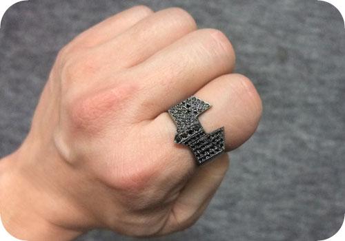 【タイバニ】 バーナビーの黒い指輪作るよ! 【ブラックジルコンver. ドヤァ】