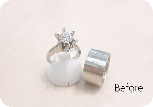 ご両親のふたつのリングから…ダイヤモンドリング!【Before】