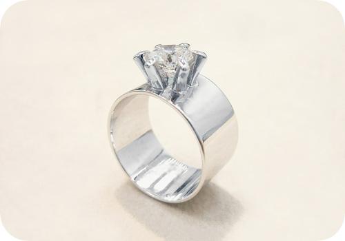 ご両親のふたつのリングから…ダイヤモンドリング!【After】