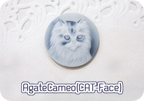 きりりと凜々しく、猫カメオ♪