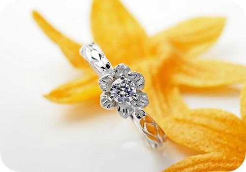 花咲くダイヤモンド♪エンゲージリング!