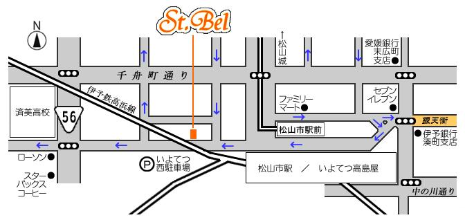 8月1日(水) セントベル移転オープン:地図
