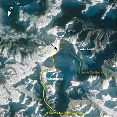 エベレスト登山ルート