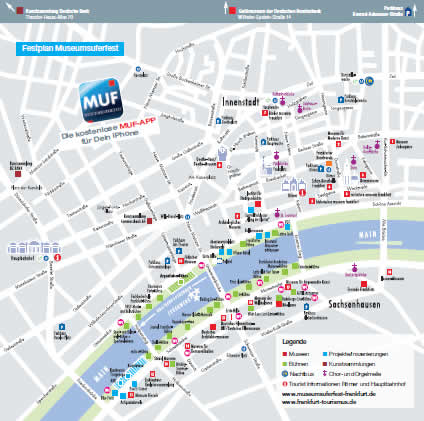 Museumsuferfest map
