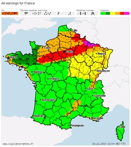 大雪警報 フランス