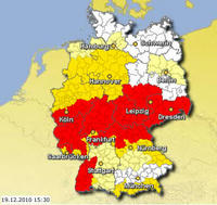 大雪警報 ドイツ