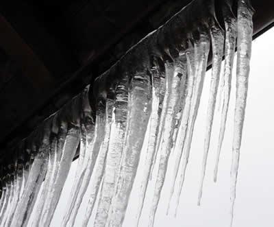 80cmになった氷柱