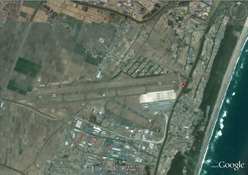 仙台空港 津波の前