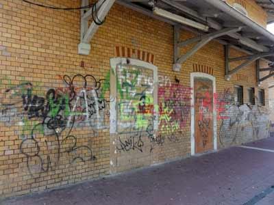 駅の落書き