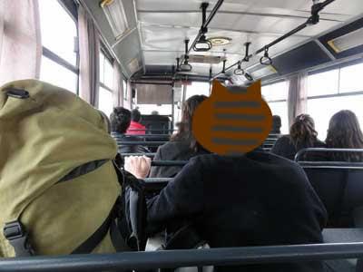 ギョレメへ向かうバス