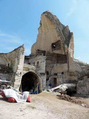 ギョレメの崩れた岩