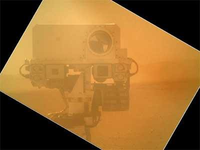 火星の大気越しに見たメインカメラ