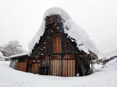 年季の入った建物