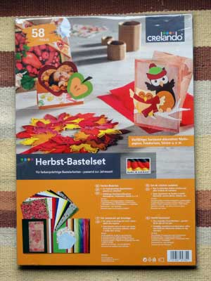 Germany today for Herbst bastelset