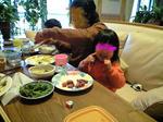 塚原にて食事。パパ&waco