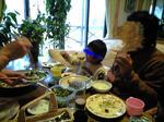 塚原にて食事。パパ&jojo
