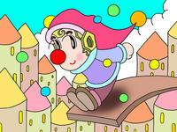 ピエロのイラスト.2<ジャンプ>1