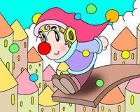 ピエロのイラスト.2<ジャンプ>2