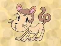動物キャラクターのイラスト.1<ファンキー犬>