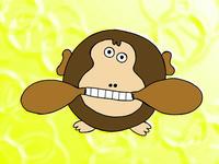 動物キャラクターのイラスト.3<にらめっこゴリラ>