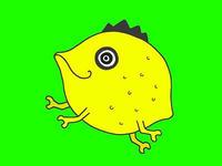 動物キャラクターのイラスト.7<カメレモン(カメレオン?)>