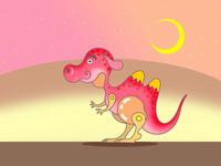 SFテーマのイラスト.8<恐竜ラクダ>