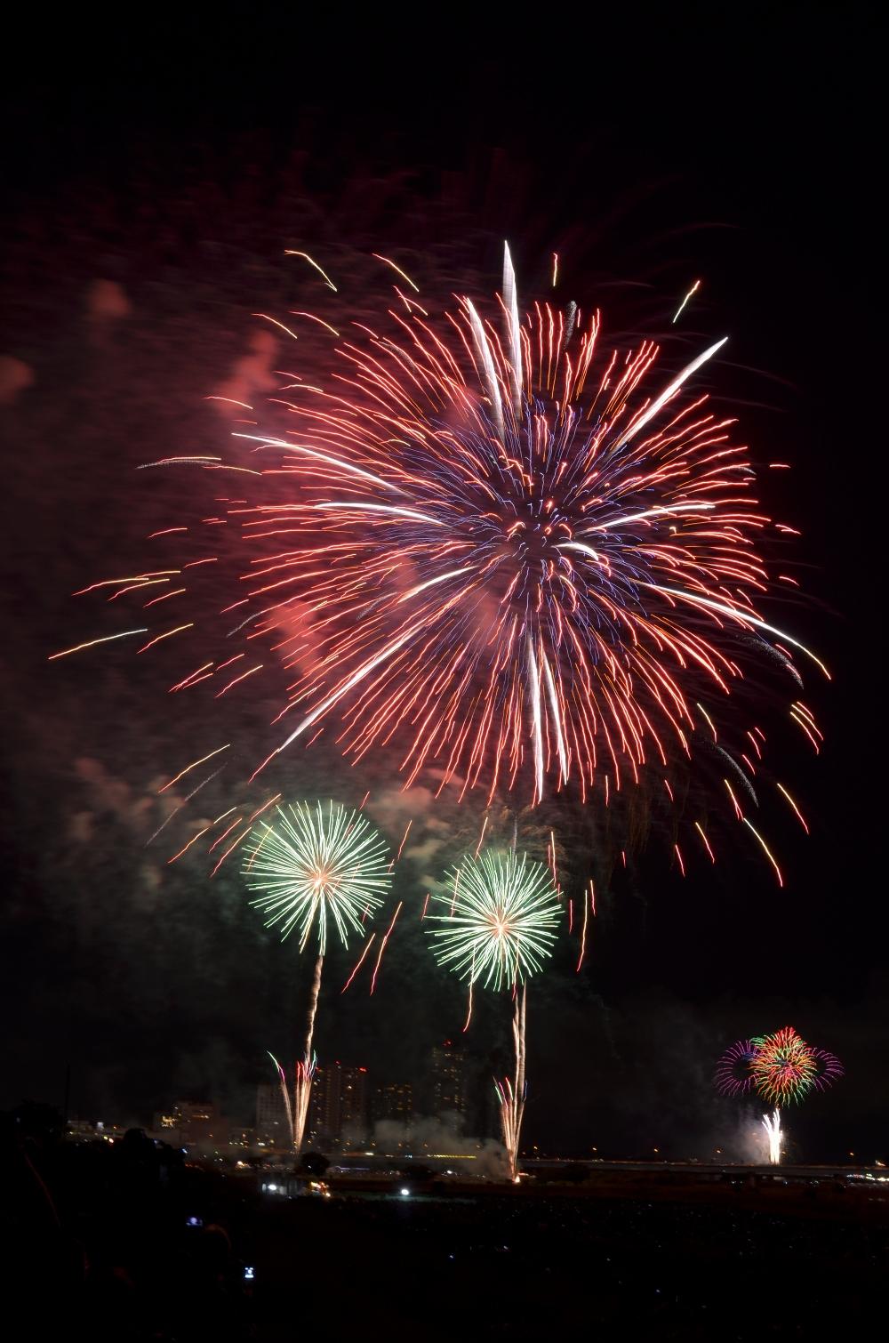 2012年たまがわ花火大会でした。