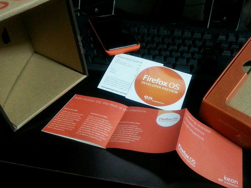 Keon, Firefox OS DEVELOPER PREVIEW