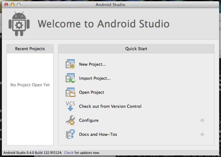Macbook AirにAndroid Studioをインストールする