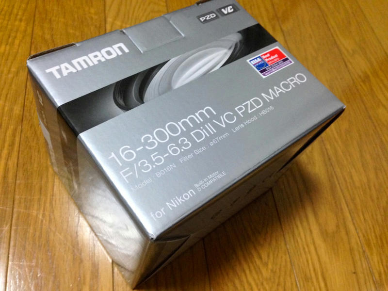 欲しかった TAMRON 16-300mm Model:B016N(Nikon) を頂いたので開封の儀