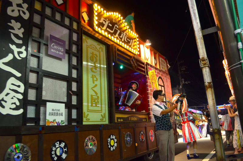 2015年よさこい祭りの初日、高知愛宕商店街にて