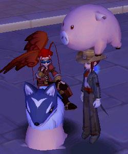 頭上の豚と埋まった豚