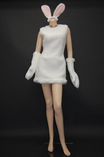 白うさ ミニ ドレス