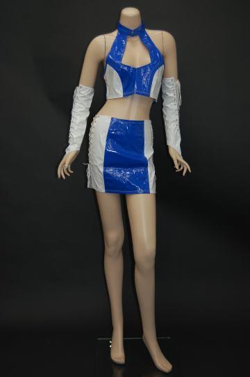 編み上げ☆レースクイーン ブルー×ホワイト コスチューム 9号