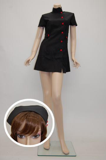 小悪魔☆黒ナース×赤ボタン ブラック コスチューム 9号