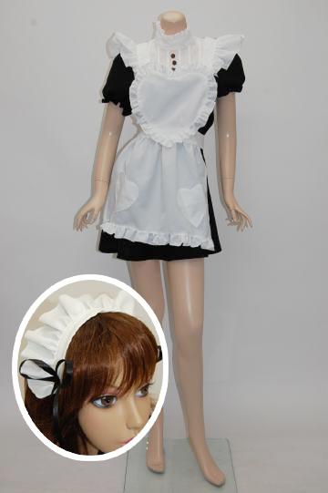 ゴシック調☆姫メイド ブラックホワイト コスチューム