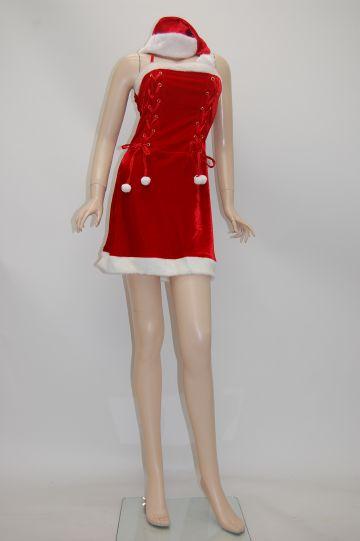FRONT2スピンドル レッド サンタドレス