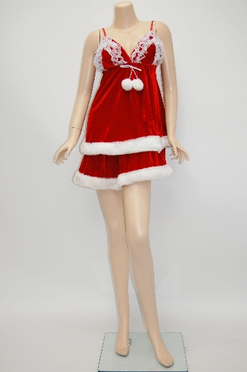 胸フリル サンタ ドレス