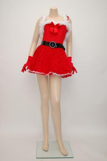 ボレロ付きフリルサンタ ワンピースドレス