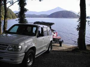 猪苗代湖でジェット