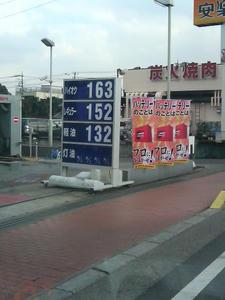 ガソリンが高いよ・・・・・・・