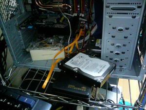 HDDを交換して起動実験