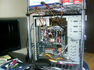 改造途中パソコン