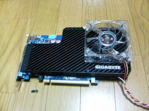 ビデオボードにファンコンの温度センサー&ファン取り付け