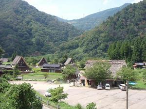 白川郷と五条山の合掌造り集落