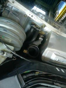 ベンツSクラス(W140)エアコン修理 エキパンとヒーターホース