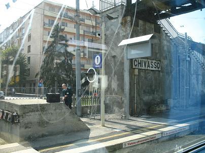 ミラノ~トリノ車窓 Chivasso駅