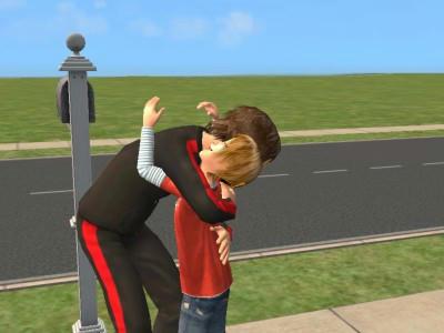 親子の抱擁