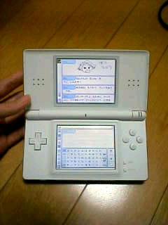 nintendo DS liteの白いやつ
