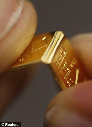 大摩邇(おおまに) 割れる板チョコのようなゴールド